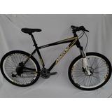 Nova Bicicleta Astro Mtb Preta 27 Vel E Freio Hidr Tam 18,5