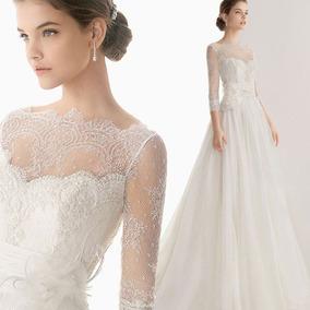 Vestido De Novia Boda Elegante Importado Mod G004690