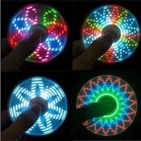 Fidget Spinner Con Luces Led Solo En Color Rojo 20 Efectos