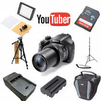 Kit Youtuber Sony Dsc Hx400v 32gb + Tripés + Led 160 + Bolsa
