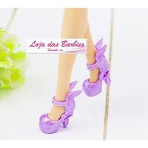 Sapatinho De Luxo Crepúsculo Lilás P/ Boneca Barbie * Sapato