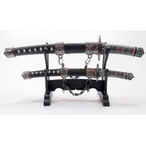 Espada Samurai Sabre Hk 27-28 A Suporte Abridor De Cartas