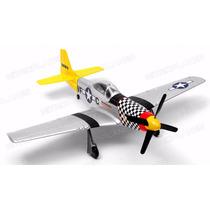 Aeromodelo Eletrico P51 Mustang Completo C/ Radio+lipo
