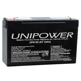 Bateria 6v 12ah Unipower Up6120 Brinquedo Moto Elétrica