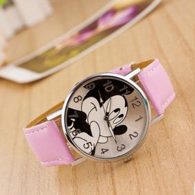 Reloj Mickey Mause Caricatura Rosa Mujer Moda Envio Gratis