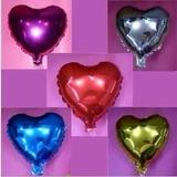 Globos Metalizados Corazón Rojo Dorado Plateado Fucsia 20cm
