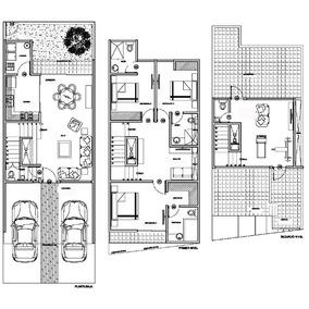 Planos proyecto arquitectonico 50 x m2 casa habitacion en for Programas para disenar planos arquitectonicos