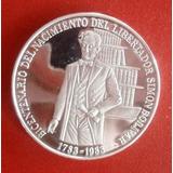 Moneda De Plata Conmemorativa De Simón Bolívar 100 Bs. 1983