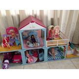 Mansión De Barbie Con Set Todas La Barbies Incluidas