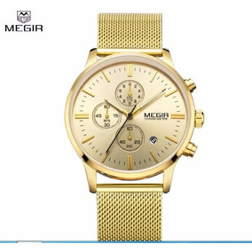 Reloj Megir Para Caballero Fechador Y Cronometro M2011