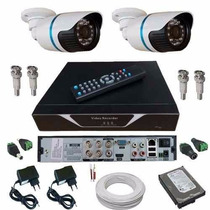 Sistema De Segurança Kit 2 Câmeras Hd Megapixel