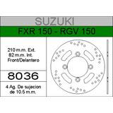 Disco Freno Hd Trasero Suzuki Rgv 150 - Suzuki Fxr 150