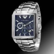 Relógio Emporio Armani Ar0660 Original Azul Quadrado Top