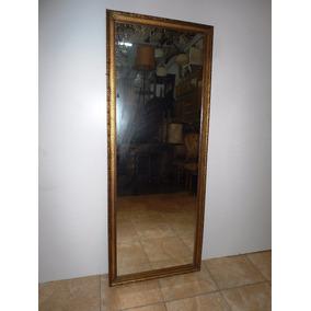 antiguo espejo frances marco cedro dorado a la hoja x