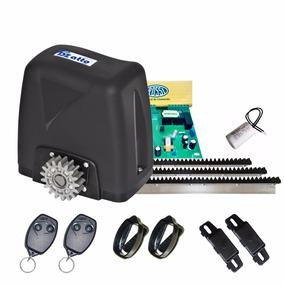Kit Motor 1/5hp Portão Deslizante 350kg Rossi Com 4 Controle