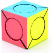 Cubo Rubik Qiyi Six Spot Cube + Base Stickerless O Black