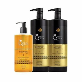Kit Aneethun Geleia Real + Shampoo Queen + Mascara 990ml