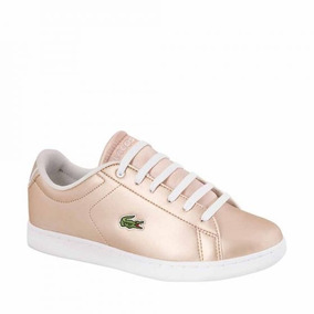 Tenis Casual Lacoste Color Oro Sintetico Is962 A