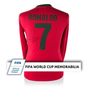 Cristiano Ronaldo Retro Portugal Playera Firmada