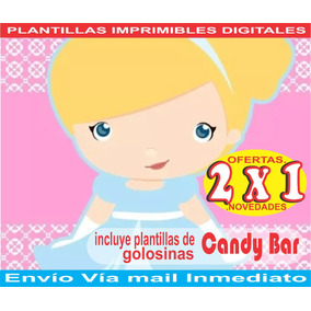 Kit Imprimible Cenicienta Baby Cotillon + Candy Bar 2x1