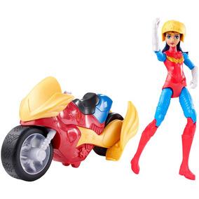 Dc Super Hero Girls - Figura E Veiculo - Mulher Maravilha