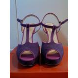 Zapatos Elle Nº 37,5 Morados