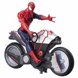 Spiderman Figura Muñeco Y Moto Gigante Araña - Hasbro Marvel