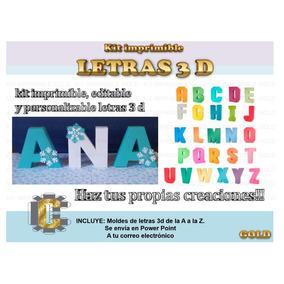 Kit De Letras 3d Editable E Imprimible Decora Tu Fiesta