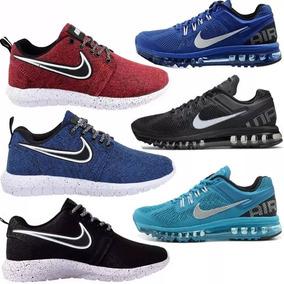 Novo Kit 3 Tênis Roshe One + 3 Air Max Nike Bolha Compre Ja