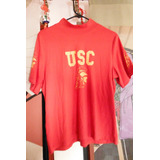 Blusa Usc Trojans College Football Bay Tee Sports Woman Red