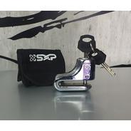 Candado Para Disco Freno Moto Sxp Cromo Acero Mh&s