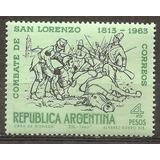Argentina 150º Combate De San Lorenzo 673 - Gj 1262 Año1963