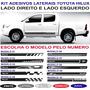 Faixa Lateral Toyota Hilux Acessorios Kit