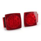 Luces De Matrícula Freno Led Para Camión Trailer Rojas