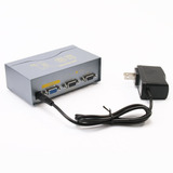 1 Pc A 2 Monitor Vga Splitter Box 2 Puerto Svga Video