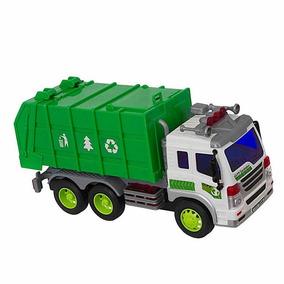 Caminhão De Lixo Brinquedo Coletor Som Luzes 307s Shiny Toys