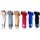 Vestido Paisana En Modal De Mujer Largo Con Tajos
