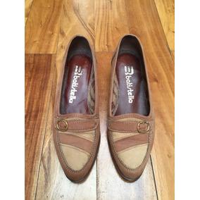 Zapatos De Gamuza Beige Para Dama Marca Batistella Numero 36