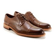 Zapato Hombre Cuero Marrón Diseño Benedetto By Ghilardi.
