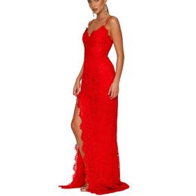Largo Vestido Largo Rojo Vestido Rojo Color Color Largo Vestido fpfxYR7