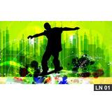 Skate Skatista Esqueitista Painel 3m² Lona Decoração Festa