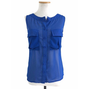 Camisa Mujer Tipo Gasa Transparente Manga Corta Elegante