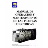 Mantenimiento Y Operaciones De Plantas Electricas