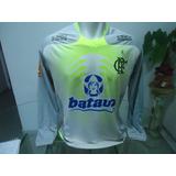 Camisa Flamengo Olympikus 2010 Treino - Manga Longa