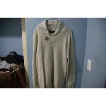 Sweater Pull And Bear Cuello Shawl Color Blanco