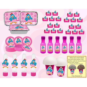 Kit Festa Infantil Galinha Pintadinha Menina (rosa 222 Peças