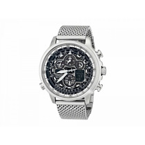Relógio Citizen Navihawk Mesh Jy8030-83e Utc Atomic Wr 200