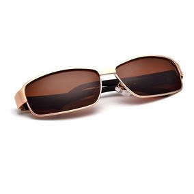 361172da6f612 Óculos Rayban Esportivo Dourado Com Lentes Marrom Polarizada De Sol ...