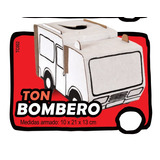 Camion Bombero Armar Pintar Juego Didáctico Carton Bomberos