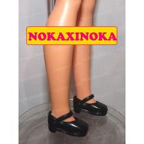 Sapato Pra Boneca Susi Antiga Anos 70 80 90 Sapatinho Preto